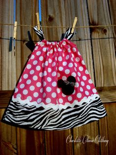 Minnie Mouse Pillowcase dress by charlotteoliviacloth on Etsy, $26.50