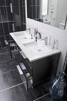 Salle de bains on pinterest html oslo and design for Lapeyre creatis