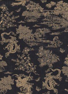 Stoff japanische Motive - DRACHEN JAPAN STOFF Nr. 131163 - ein Designerstück von rbaudisch bei DaWanda