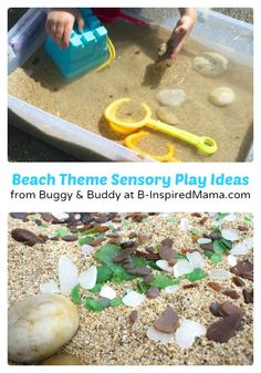 Preschool Beach Theme Sensory Play [From the Mamas] Ocean Activities, Toddler Learning Activities, Craft Activities For Kids, Toddler Preschool, Summer Activities, Fun Learning, Classroom Activities, Classroom Ideas, Beach Theme Preschool