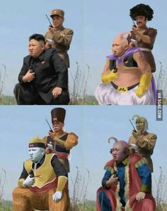 Kim's cosplays. DBZ fans would get this