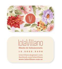 Diseño Tarjeta Personal  Lola Villano - Diseño de Indumentaria