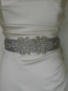 DIY Beaded Ribbon Bridal Sash | Diy wedding dress, Sell