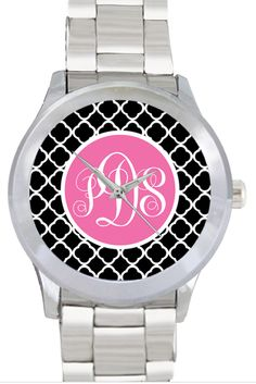 tinytulip.com - Monogrammed Stainless Steel Boyfriend Watch, $46.50 (http://www.tinytulip.com/monogrammed-stainless-steel-boyfriend-watch)