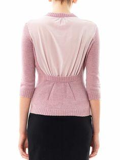 Nina Ricci Silk panel wool sweater
