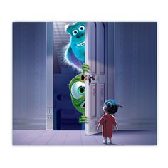 Monsters Inc Doors, Boo's Door, Mike And Sully, Monster Inc Party, Chalk Art, Disney Pixar, Tumbler, Tattoo Ideas, Vegan Recipes