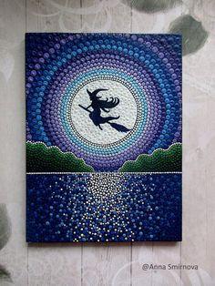 The magic of the night. We all have a little witch)))). Fascinate others! This colourful fridge magnet is a great gift for any occasion. It is made of durable vinyl and really clings to any metal surface. Very high quality print magnet. The magnet is made based on my paintings Smirnova