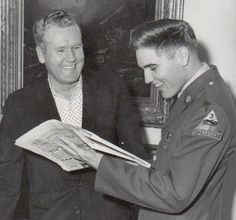 Elvis Presley and Vernon