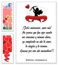 saludos de aniversario,sms bonitos de aniversario,textos de aniversario para whatsapp: http://www.consejosgratis.es/frases-por-el-aniversario-de-novios/