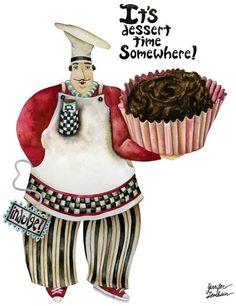 Chef illustration art by Jennifer Lambein
