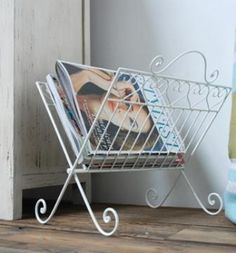 sweetheart wire magazine rack from fields of blue