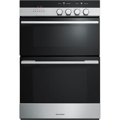 Buy Fisher & Paykel Double Electric Oven, Brushed Stainless Steel and Black Glass from our Built in Ovens range at John Lewis & Partners. Small Oven, Large Oven, Domestic Appliances, Cooking Appliances, Built In Double Ovens, American Fridge Freezers, Stainless Steel Oven, Oven Range