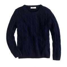 J.Crew - Kids' collection cashmere cable crewneck sweater