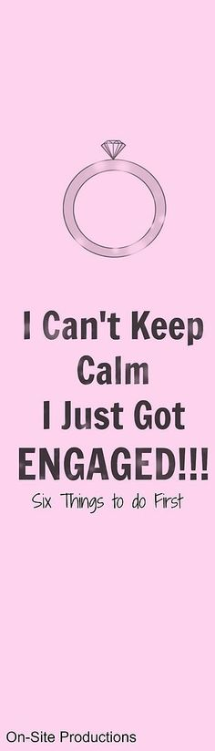 Six things you need to do after you get engaged!  This is a great list!  http://bit.ly/1TUHJhH
