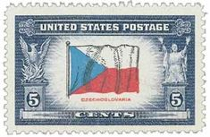 Flag of Czechoslovakia Overrun Countries Series Issue Date: July 1943 City: Washington, D.