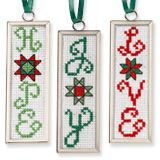 Festive Word/Quilt Ornaments, from Cross-Stitch & Needlework, March 2012.