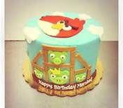 angrybirds birthday cake