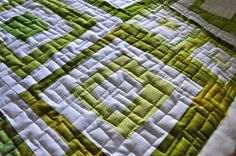 May Your Bobbin Always Be Full: Green Quilt......Binding