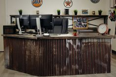 We design and build one-of-a-kind desks from wood, metal and special finishes to make your piece truly unique. Custom Desk, Desks, Liquor Cabinet, Commercial, Storage, Wood, Furniture, Home Decor, Mesas
