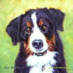 "Custom Pet Portrait Dog Painting Original Oil Painting 8 x 8"" by KimStenbergFineArt on Etsy $150"