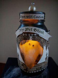Easy DIY Pet Ghost in a Jar