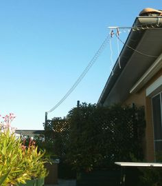 Frank's N4SPP Ham Radio home-built slinky coil dipole antenna