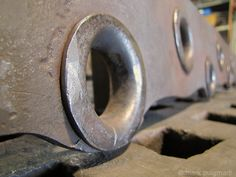 pipe rivets #forged #blacksmith #joinery - mark puigmarti