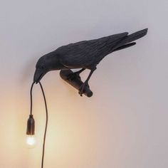 Seletti Bird Wall Lamp Looking Left Unique no - Murales Pared Exterior