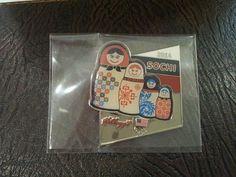 Sochi 2014 Winter Olympic USA Team Sponsor Kellogg Matryoshka doll Pin Badge,New #kellogg