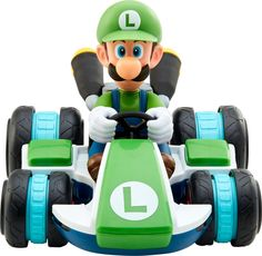 Shop Nintendo Mario Kart Mini RC Luigi Racer at Best Buy. Find low everyday prices and buy online for delivery or in-store pick-up. Lego Mario, Nintendo Mario Kart, Mario Toys, Mario Kart 8, Mario Bros., Mario And Luigi, Mario Kart Characters, Diddy Kong, Super Mario Birthday