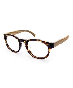 Take a look at this Tortoise & Olive Oak Canon Eyeglasses by Ivory + Mason on #zulily today!