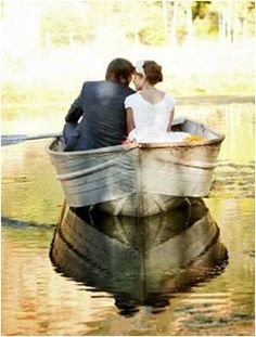sweet newlyweds - WEDDING photo - bride and groom on a boat