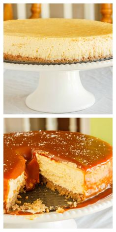 Salted Caramel Cheesecake! | Shared by Fireman's Finds