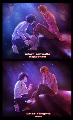 Light and L fangirls. Death Note