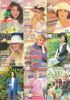 Rare Machine Knitting Monthly Magazine Collection Free PDF Downloads