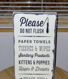 Bathroom Signs Toilet Paper Only toilet septic tank sign - google search | bathroom signs