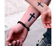 Have a look at our Religious Tattoo Designs Gallery. Lots of Religious Tattoo Designs for you to get some great religious tattoo ideas. Cross Tattoo On Wrist, Simple Cross Tattoo, Wrist Tattoos, Back Tattoo, Body Art Tattoos, Sleeve Tattoos, Bracelet Tattoos, Shoulder Tattoos, Small Tattoos Men