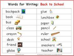 Classroom Freebies Too-back to school words