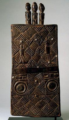 "Democratic Republic of the Congo; Luba peoples Lukasa (memory board) Wood, beads H. 40.64 cm (16"") The University of Iowa Museum of Art, The..."