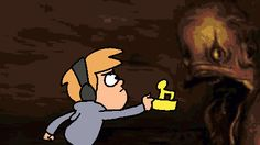 omg i can't believe that it's pewdiepie in gf o0o! i love gravity falls more then anything