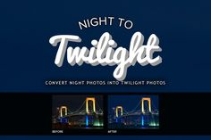 Night to Twilight Photoshop Actions by pstutorialsws