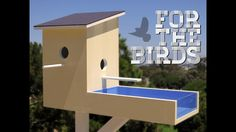 Add creative, unique décor to your home with this hand made Contemporary-Modern style home for birds.