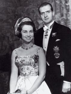 Young Prince Carlos and Princess Sofia of Spain