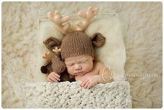 Baby Buck Deer Hat and Lovie,Stuffie Lovey, Deer Hat, Knit Infant Photo Prop, Newborn, Custom Antler Colors, Deer Hunter Reindeer Moose Elk