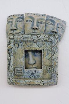 contemporary, ceramic, faces, windows, Bath Alasdair Neil Macdonell Fab stuff. got a little face brooch at Art in Action