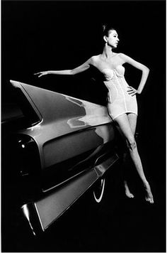 Photographed by Jeanloup Sieff. What a wonderfully original way to photograph very ordinary 1960's underwear...