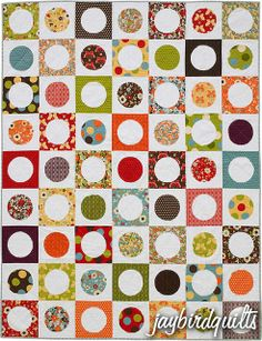circle around quilt by Jaybird Quilts