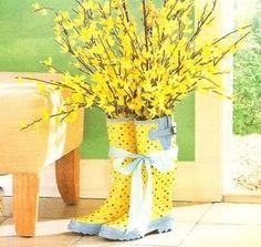 Welly Boot Vase