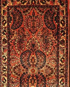 Sarogh,Persien ca 130 x 64 cm. Flor Wolle.