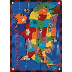 Joy Carpets Read Across America Area Rug - 1547-